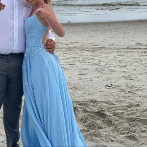 Blue prom/pageant dress
